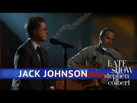 Watch: Stephen Colbert sings 'Sleep Through the Static' with Jack Johnson on 'Late Show'