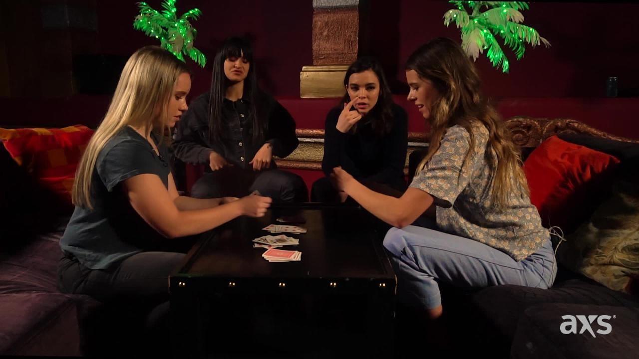 Watch The Aces play cards and answer questions about the band