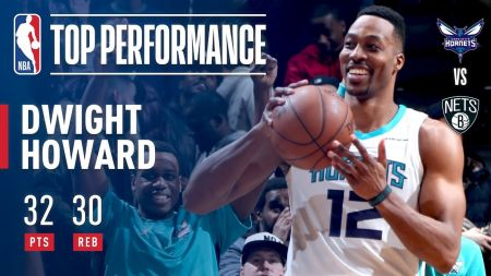 Dwight Howard posts historic feat in Charlotte Hornets' win