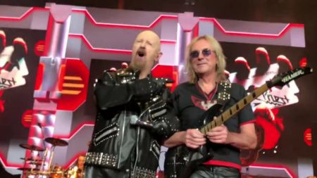 Watch: Judas Priest reunite with Glenn Tipton to perform 'Metal Gods' in New Jersey