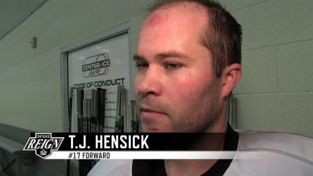 T.J. Hensick red hot for the Ontario Reign