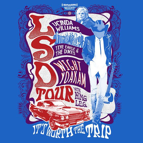 Thumbnail for LSD Tour: Lucinda Williams, Steve Earle, Dwight Yoakam