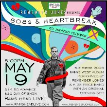 Remember Jones Presents: 808s & Heartbreak tickets at Rams Head Live! in Baltimore