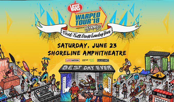 Vans Warped Tour tickets at Shoreline Amphitheatre in Mountain View