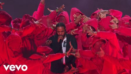 Kendrick Lamar teams with U2, Dave Chappelle in explosive Grammy performance