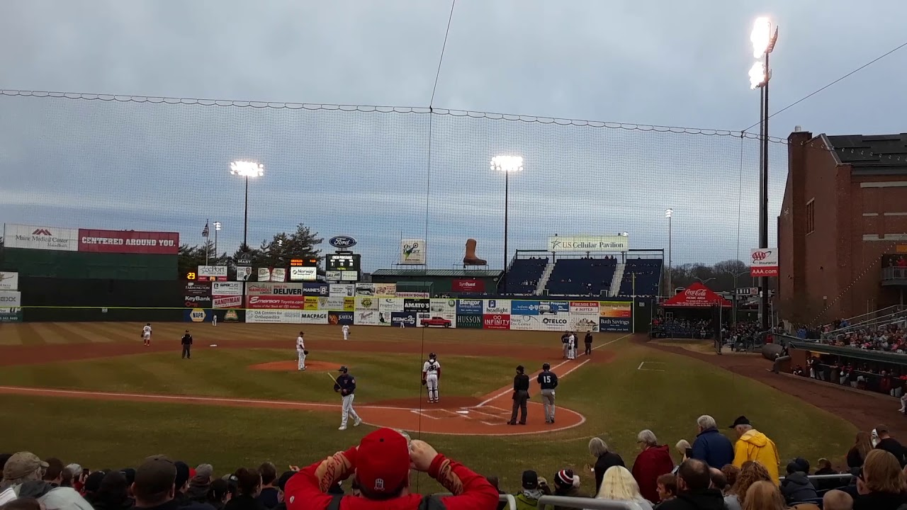 Video: Tim Tebow enjoys warm welcome in Portland Sea Dogs' home opener