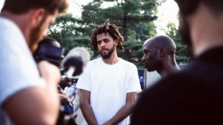 J. Cole reveals new album to arrive on Friday at pop-up NYC concert