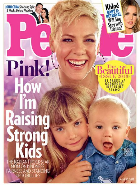 P!nk and her children on the cover of People Magazine's 'Beautiful' issue.