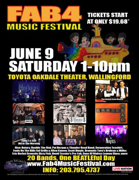 Fab 4 Music Festival June 9, 218 1 pm to 10 pm