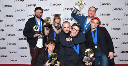 <p>BEVERLY HILLS, CA - APRIL 23: Portugal. The Man and Asa Taccone from Electric Guest attend the 35th Annual ASCAP Pop Music Awards at The Beverly Hilton Hotel on April 23, 2018.</p>