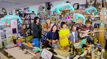 "Superorganism perform on NPR's ""Tiny Desk Concert"" series."