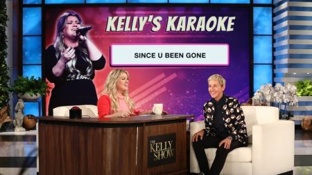 Kelly Clarkson visits 'Ellen' to sing 'Kelly's Karaoke' and her latest single