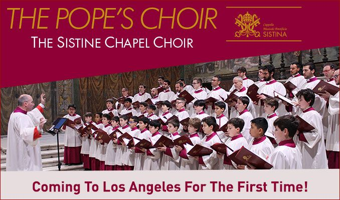 Sistine Chapel Choir tickets at Microsoft Theater in Los Angeles