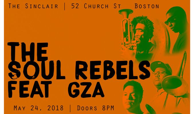 The Soul Rebels feat. GZA tickets at The Sinclair in Cambridge