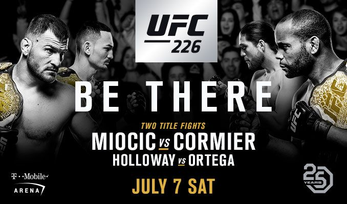 UFC 226: Miocic vs Cormier tickets at T-Mobile Arena in Las Vegas