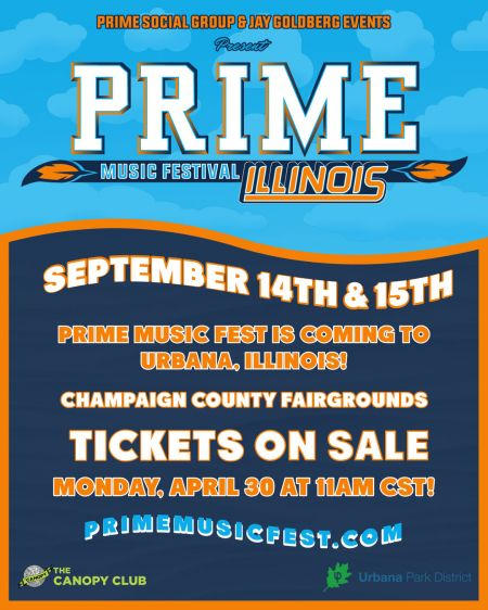 Prime Music Festival comes to Champaign County Fairgrounds in September