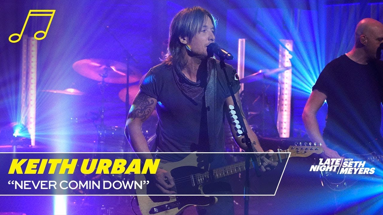 Watch: Keith Urban performs two upbeat new 'Graffiti U' songs on 'Seth Meyers'