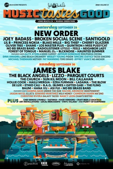Music Tastes Good 2018 announces lineup: New Order and James Blake to headline