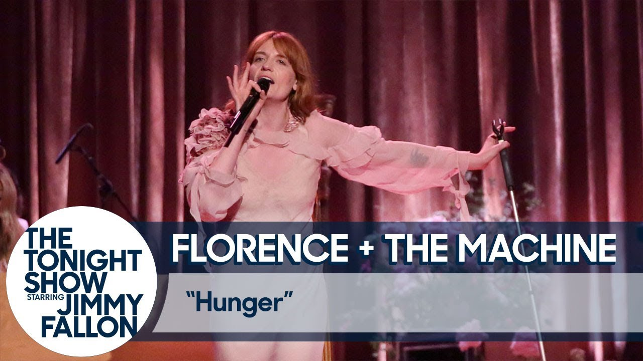 Watch: Florence + The Machine take over 'Tonight Show' set with barefoot performance of 'Hunger'