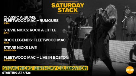 AXS TV honors Stevie Nicks with special birthday program block on May 26