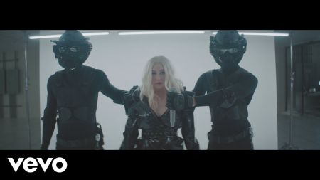 Watch: Christina Aguilera, Demi Lovato held captive in an underground bunker in 'Fall in Line' video