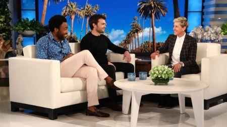 'Solo' stars Donald Glover & Alden Ehrenreich talk about the Eagles, Willie Nelson on 'Ellen': Watch