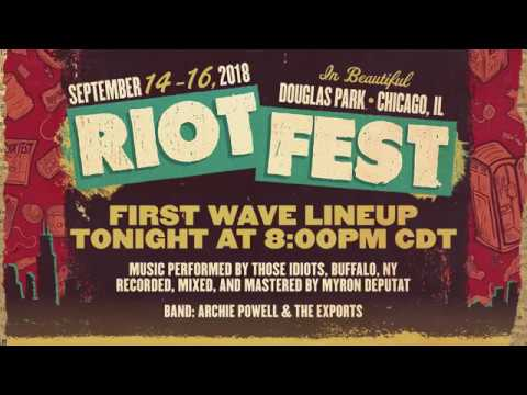 Riot Fest's first batch of 2018 performers include Blink 182, Blondie, Jerry Lee Lewis and Calpurnia