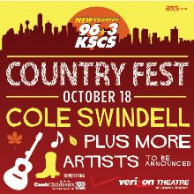 kscs country fest 18 featuring cole swindell tickets in