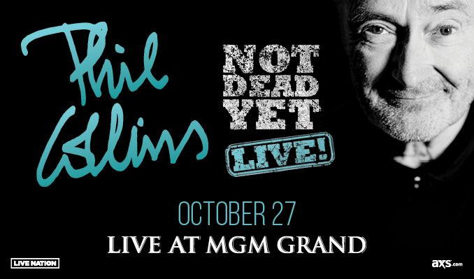 Phil Collins tickets at MGM Grand Garden Arena in Las Vegas