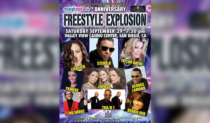 15th Anniversary FREESTYLE EXPLOSION tickets at Valley View Casino Center in San Diego