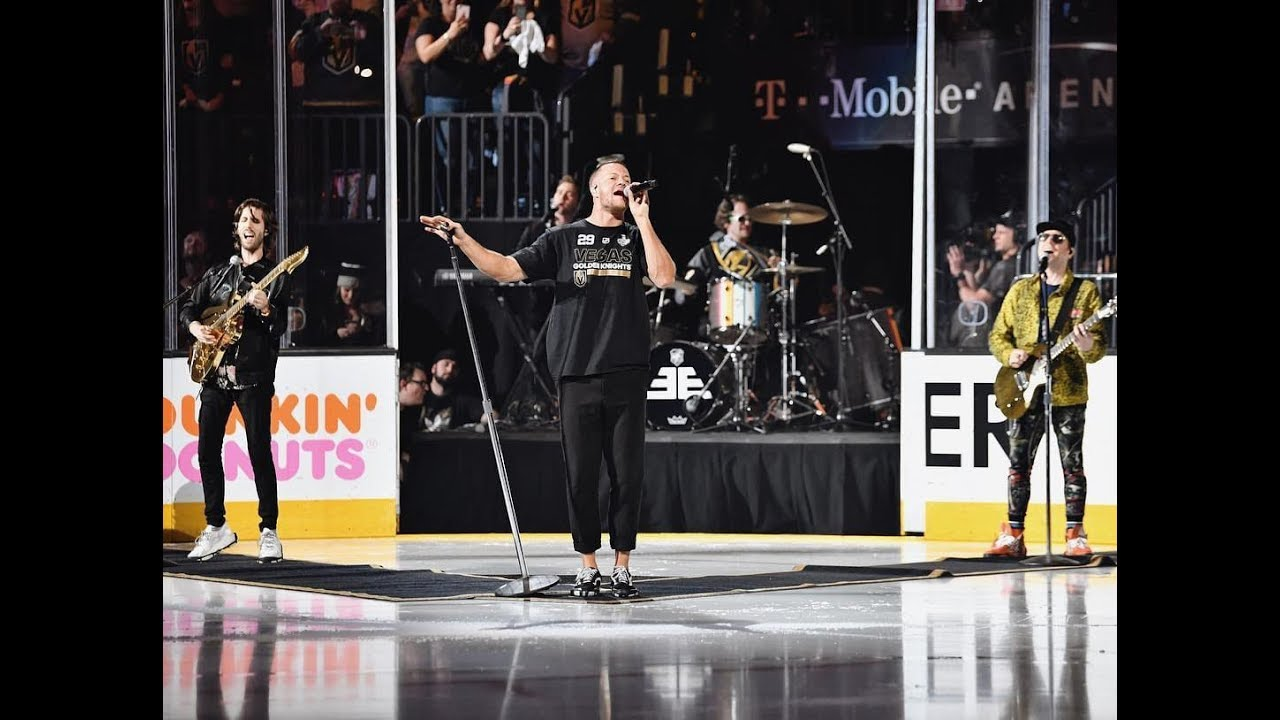 Imagine Dragons performs 'Whatever it Takes' prior to game 2 of Stanley Cup Finals