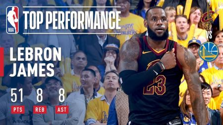 LeBron James' posts historic stat line in Game 1 NBA Finals loss