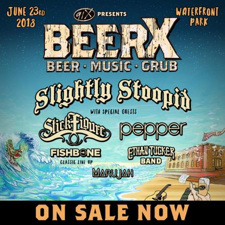 Slightly Stoopid headlines the fourth annual 91X Presents BeerX (Beer • Music • Grub). The concert is set for Saturday, June 23, once again