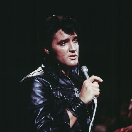"""Elvis Presley in his 1968 """"Elvis"""" special."""