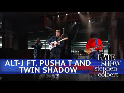 Watch: Pusha T and Twin Shadow join alt-J to debut new version of 'In Cold Blood' on 'Colbert'