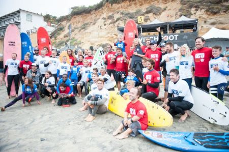 <p>Surf participants at the 13th annual Switchfoot Bro-Am </p>