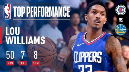 LA Clippers' Lou Williams honored with 'Sixth Man' Award