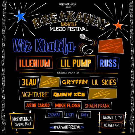 Breakaway Music Festival invades Nashville this October for two packed days