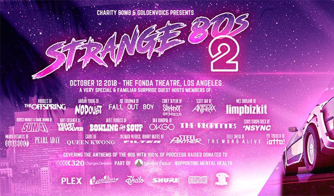 Strange 80s II tickets in Los Angeles at Fonda Theatre on Fri, Oct ...