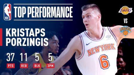 New York Knicks' Kristaps Porzingis eyes quick return