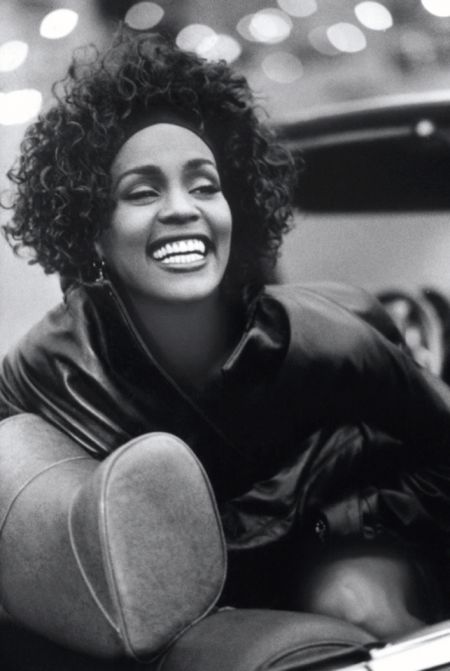 A photo of Whitney Houston from the film WHITNEY, directed by Kevin Macdonald