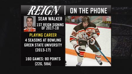 LA Kings sign defenseman Sean Walker to two year entry level contract