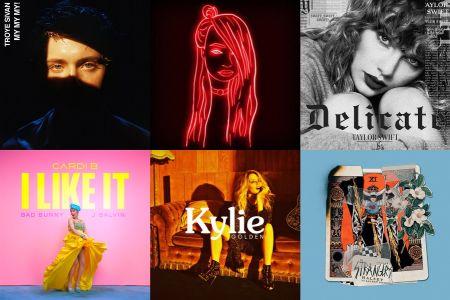 Troye Sivan, Kim Petras, Taylor Swift, Cardi B, Kylie Minogue & Halsey single covers