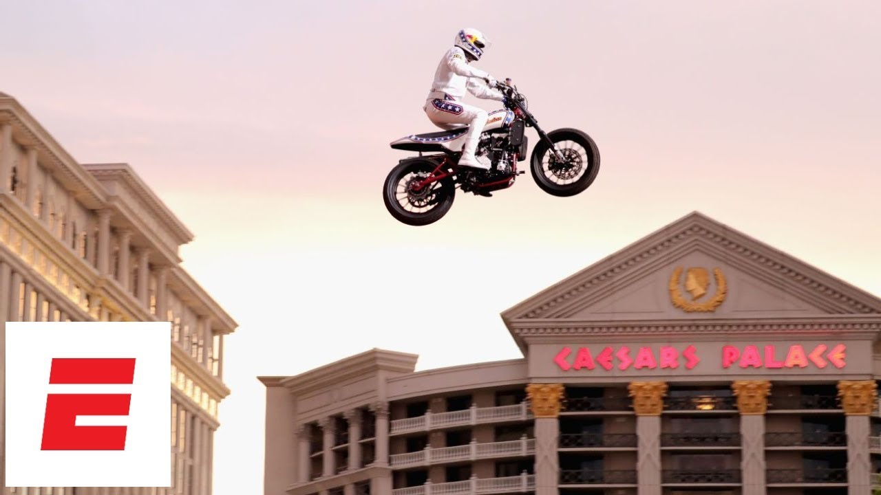 Travis Pastrana makes sports history by surpassing three Evel Knievel jumps at 'Evel Live' event