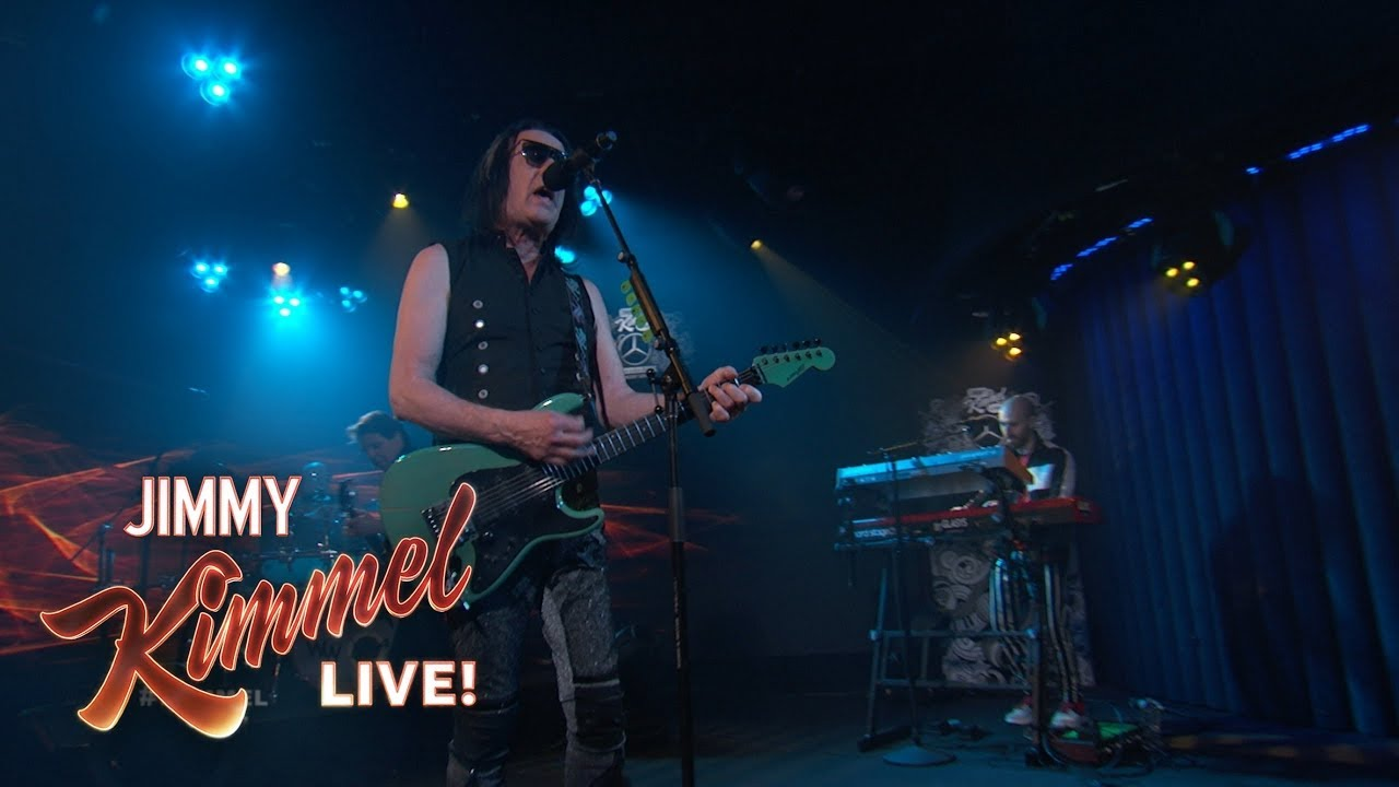Watch: Todd Rundgren's Utopia perform single 'One World' on Jimmy Kimmel Live