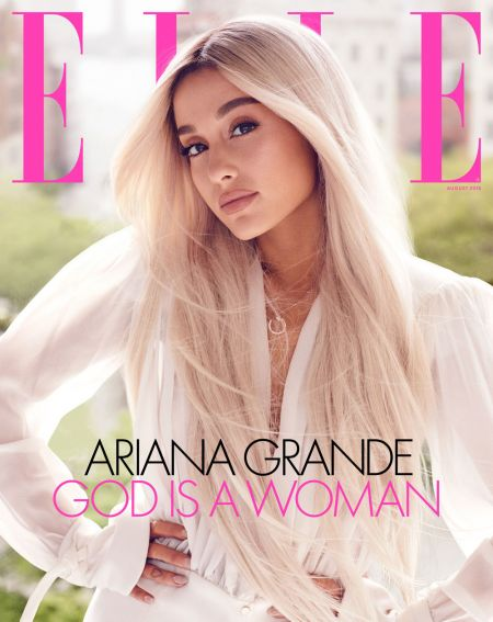 Ariana Grande on the cover of Elle's August 2018 issue