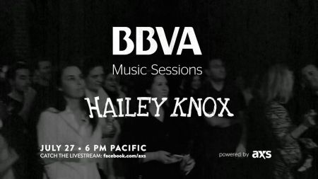 BBVA Music Sessions featuring Hailey Knox to be broadcast this week on AXS