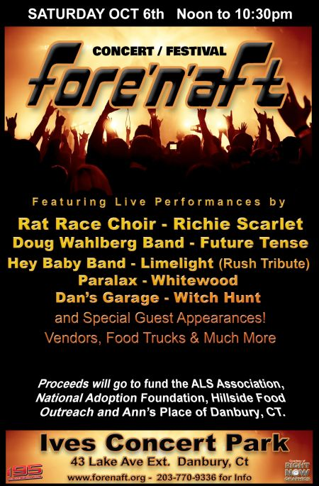 The Fore 'N' Aft Benefit Reunion Concert featuring musicians and bands from the 60's, 70's and early 80's.