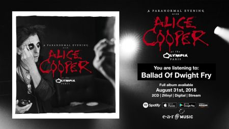Listen: Alice Cooper debuts 'Ballad of Dwight Frye' from 'Live at the Olympia Paris'