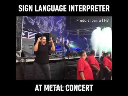 Sign-language interpreter gets national attention